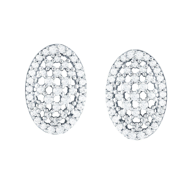 Giantti White Gold 14KT Diamond Women s Stud Earring IGL Certified