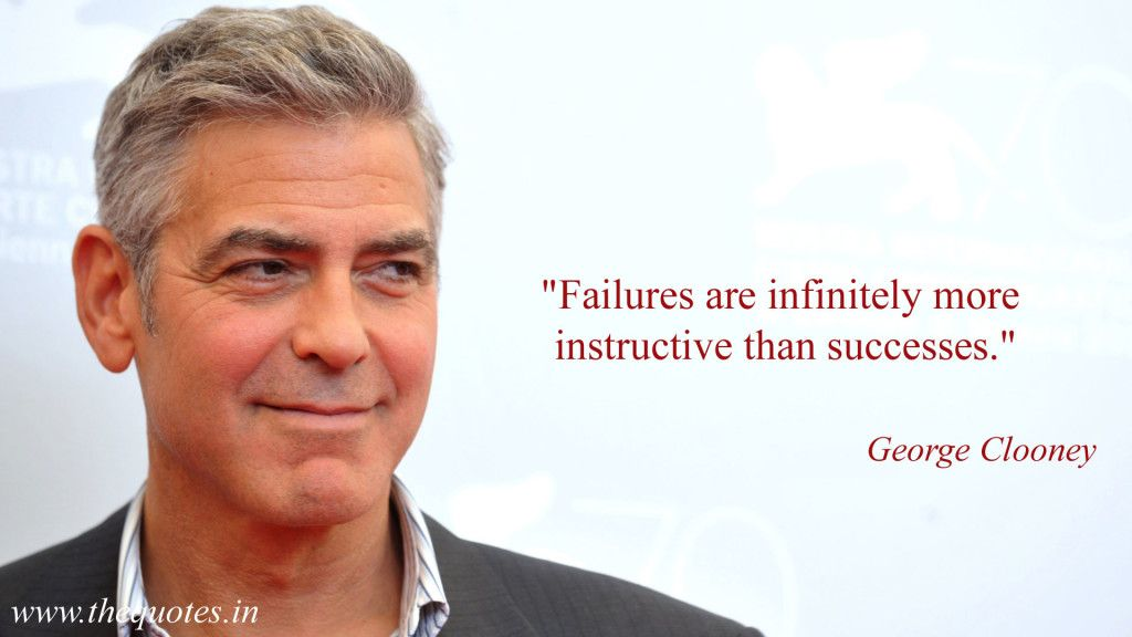 Failures Are Infinitely More Instructive Than Successes George