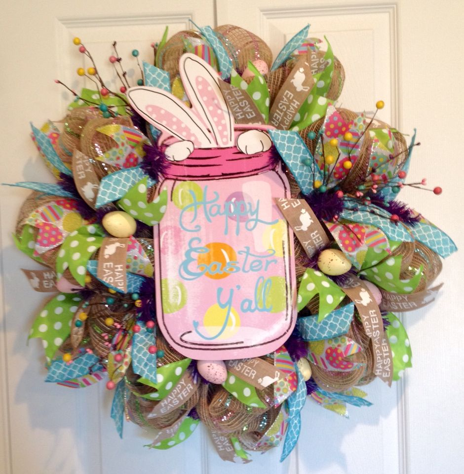 Easter wreath by DeVine Creations by Melanie