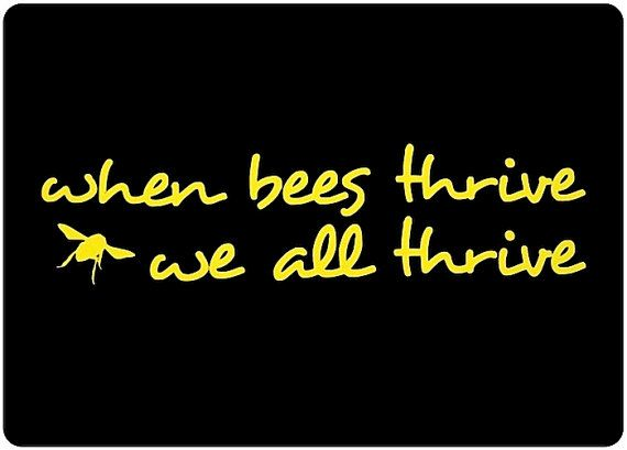 When bees thrive we all thrive window decal honey bee car window decal car sticker beekeeper bumper sticker we love bees