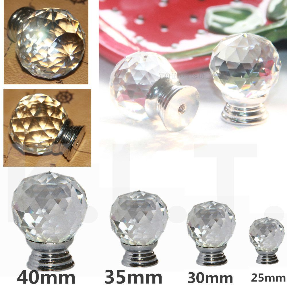 Luxury Clear Glass Cabinet Knobs