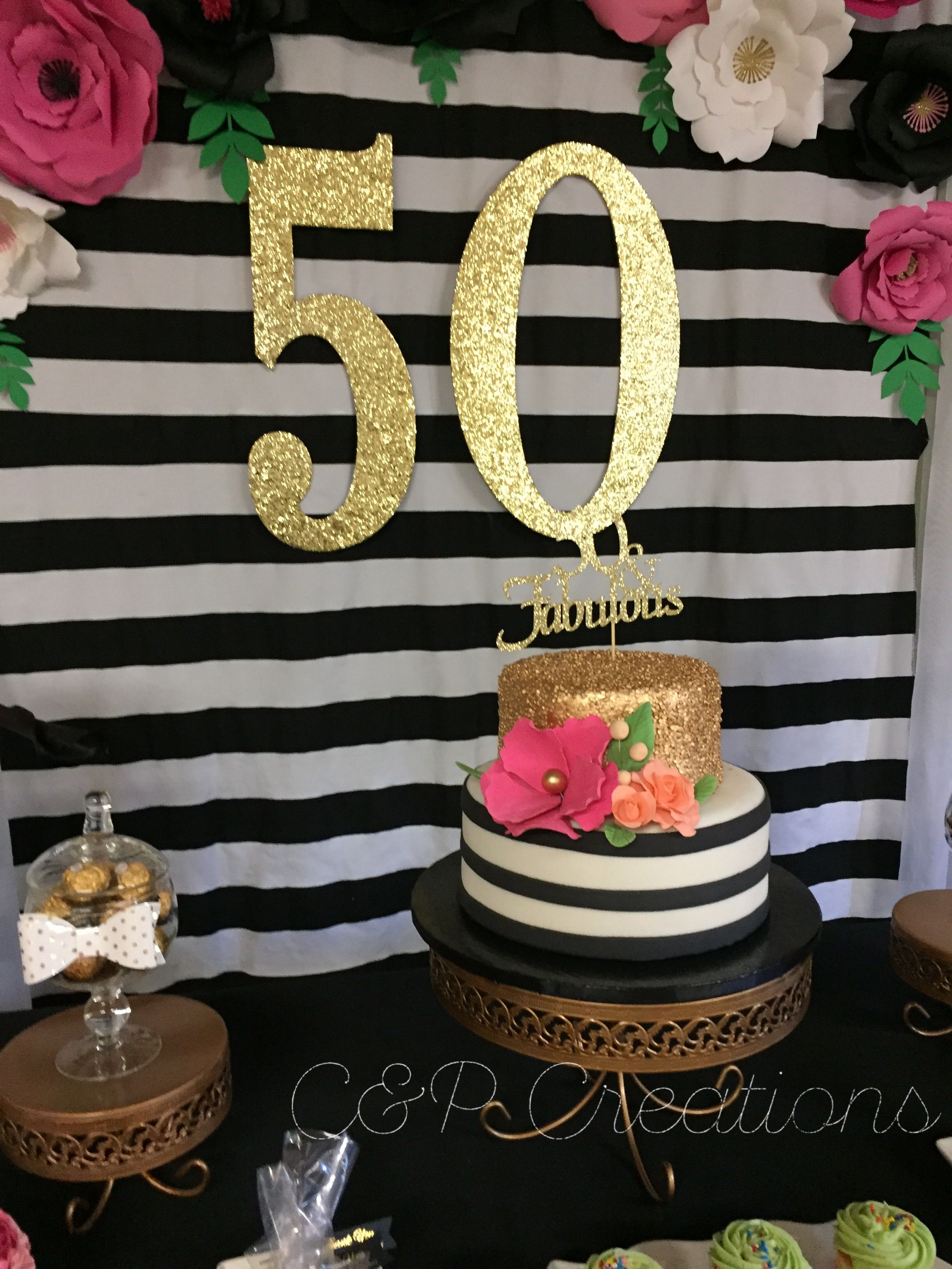 Kate Spade Inspired 50th Birthday Party C Amp P Creations