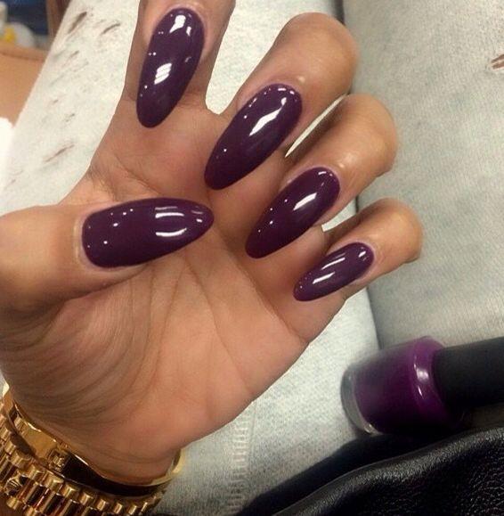 Dark Purple And White Design For Short Nails Purple Nail Art Designs Diy Nails Purple Nail Art