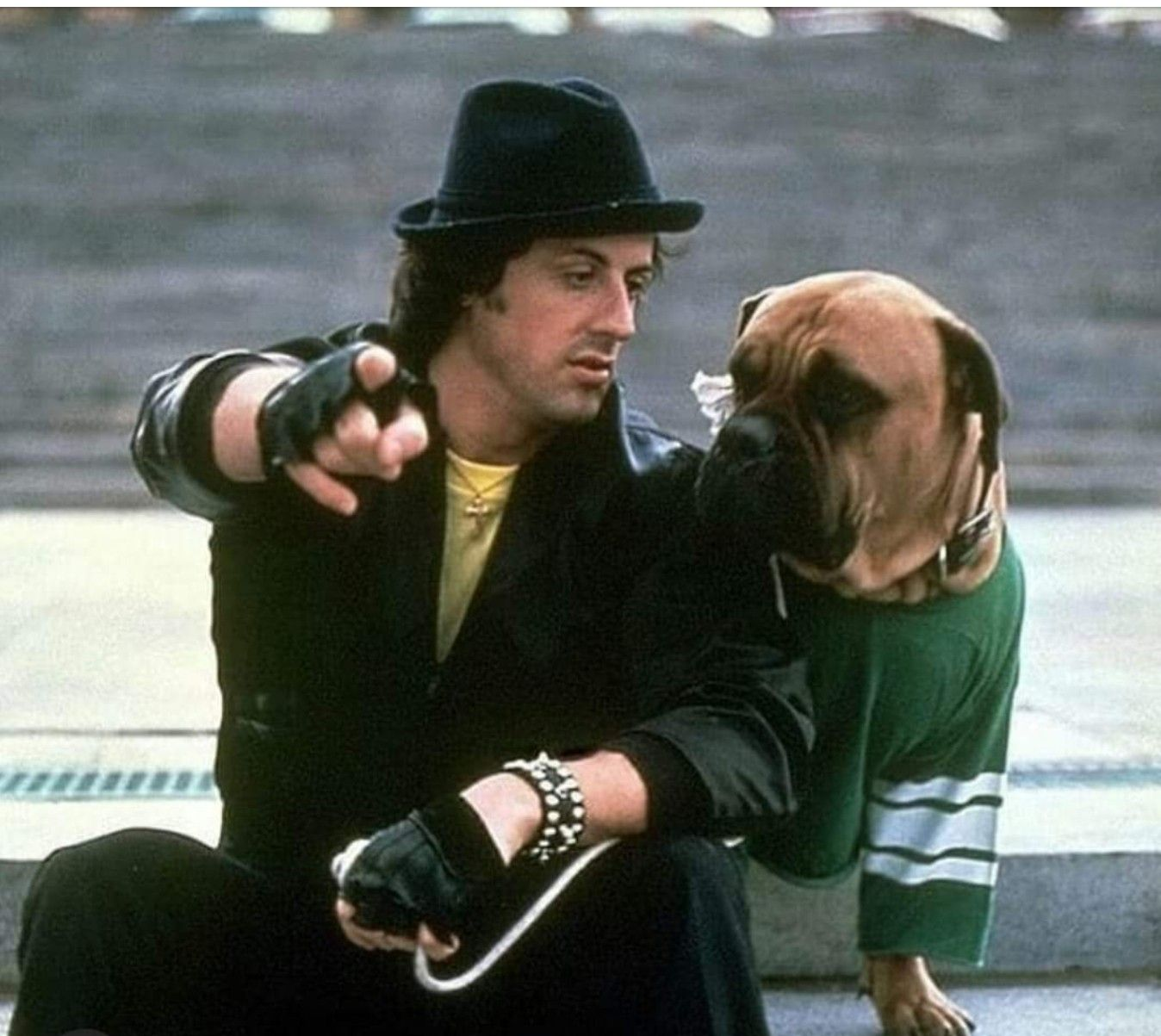 Rocky & Butkus...so cute   Sylvester stallone, Keanu reeves, Actors