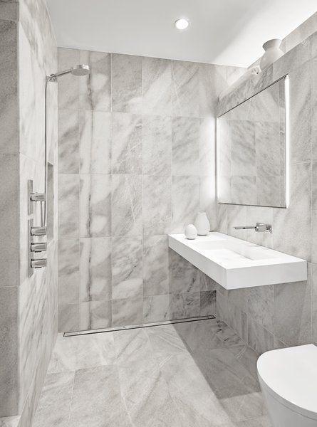 Lovely Open Showers In Bathrooms