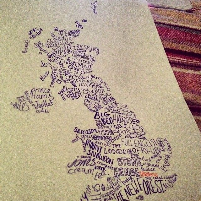 a photo taken before this uk word map was complete these pieces are always made