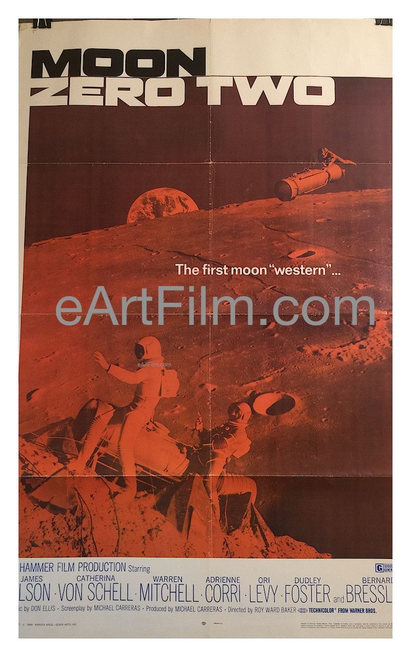 Moon Zero Two 1969 27x41 One Sheet United States