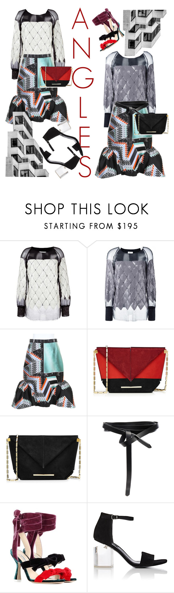 """""""Cleaning Out My Closet: ANGLES"""" by bmwm52003 ❤ liked on Polyvore featuring Aviù, Peter Pilotto, Roland Mouret, Isabel Marant, Attico and Alexander Wang"""