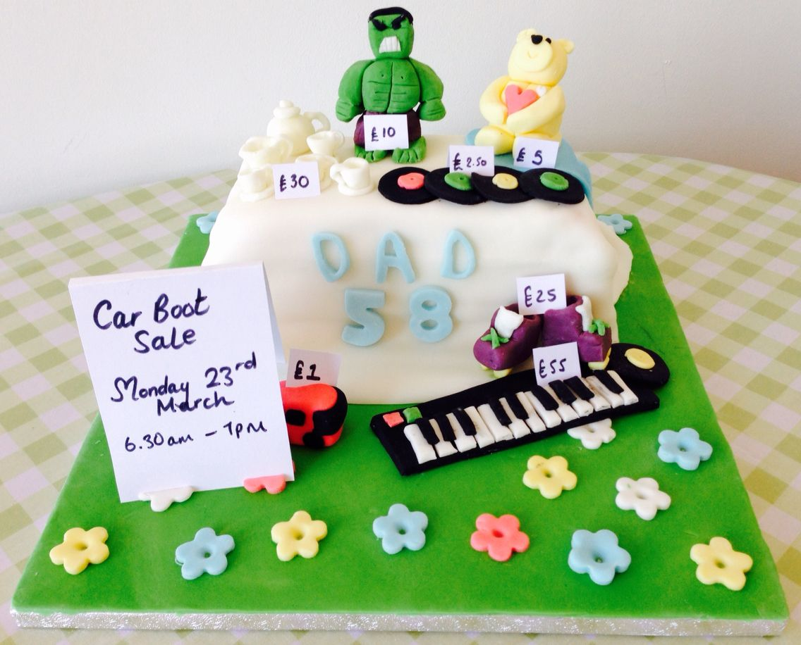 Car Boot themed birthday cake for my dad!   Cake designs and yummy ...