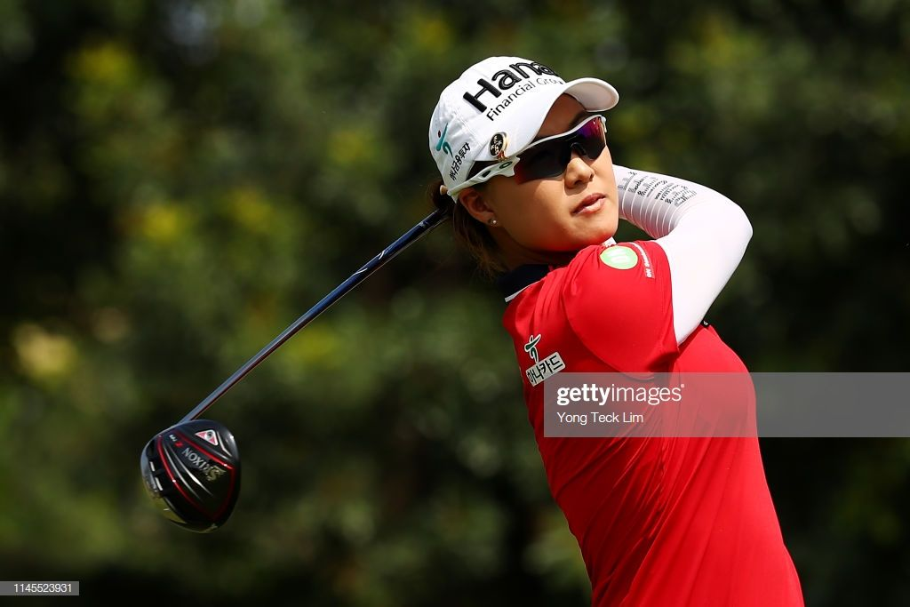 Minjee Lee Of Australia Plays Her Shot From The Sixth Tee During