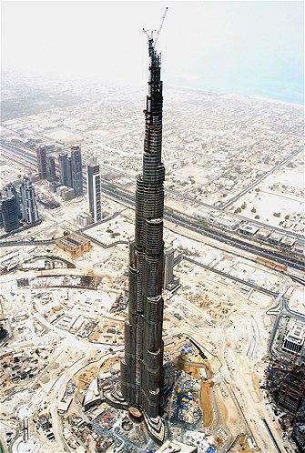 The World S Tallest Building Burj Khalifa In Dubai Under