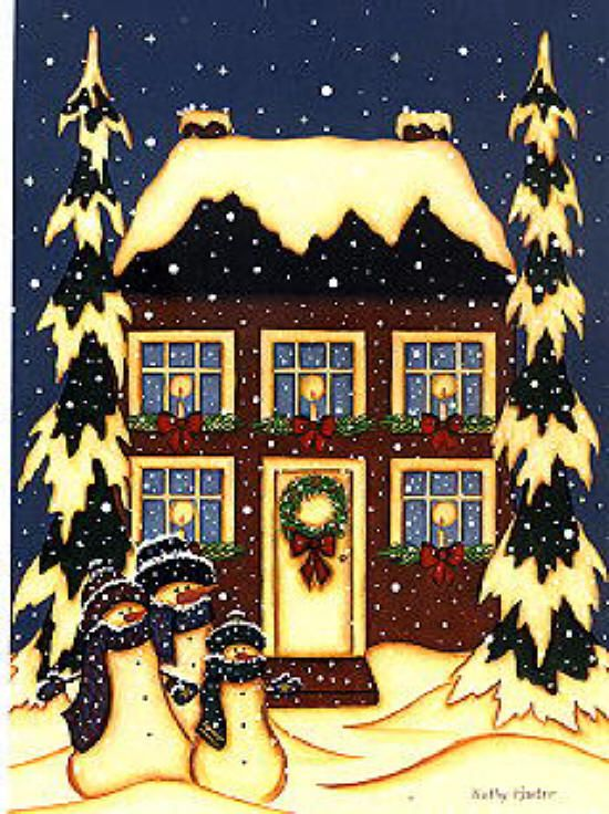 Image detail for -Kathy Hunter Folk Art Winter Folk & Primitive ...