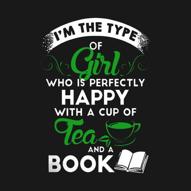 'Book And Tea' design on TeePublic!