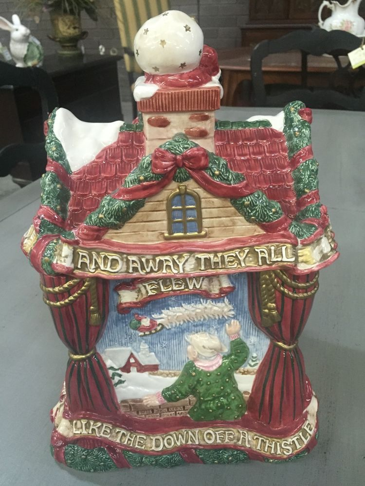 RARE NEW 1993 FITZ  FLOYD NIGHT BEFORE CHRISTMAS LARGE CERAMIC