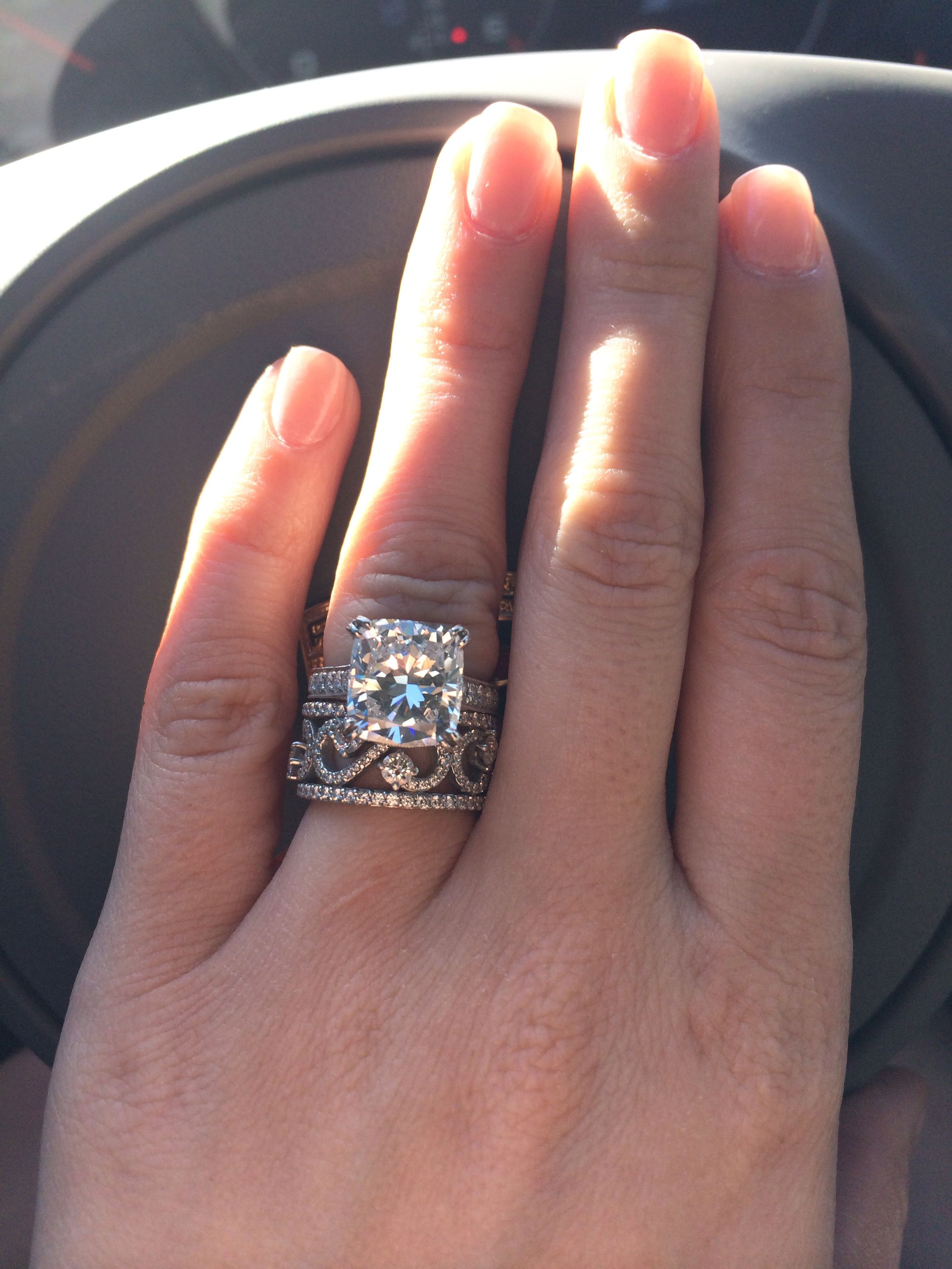 My promise ring stacked with my engagement ring! Western