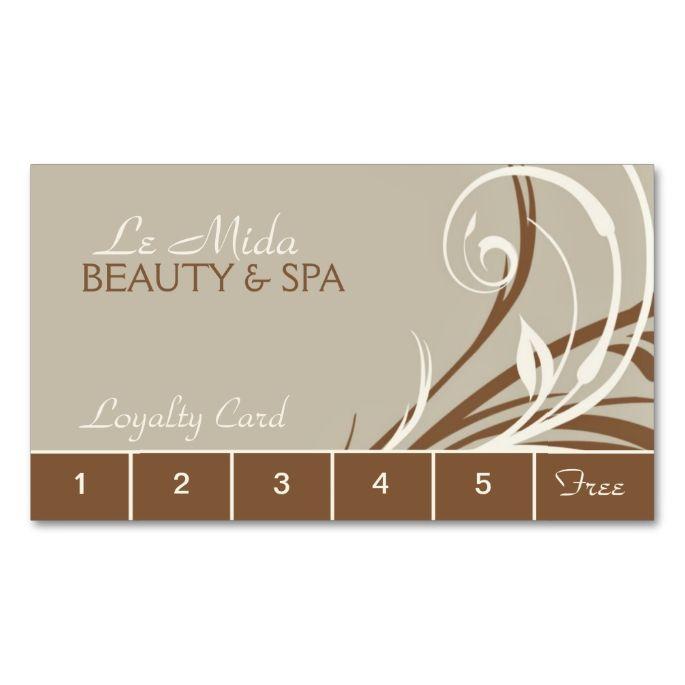 Customizable Beauty Salon Loyalty Punch Cards Zazzle