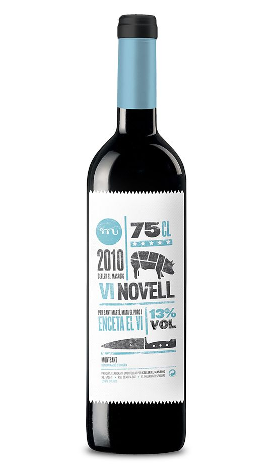 Typographic Wine Label