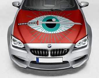 Vinyl Car Hood Anime Katana Eye Shine Graphics Decal Sticker Fit - Car vinyl decalsabstract full color graphics adhesive vinyl sticker fit any car