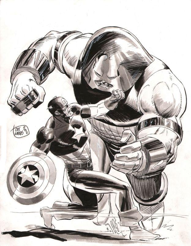 #Juggernaut #Fan #Art. (Captain America Vs Juggernaut) By: LeeWeeks. ÅWESOMENESS!!!™ ÅÅÅ+