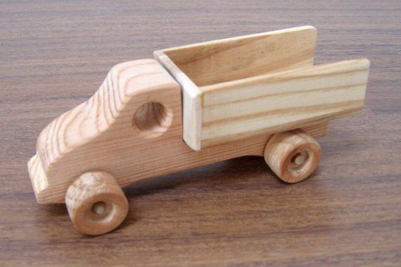 Mini Wooden Toy Truck Natural Finished Eco Friendly Toy