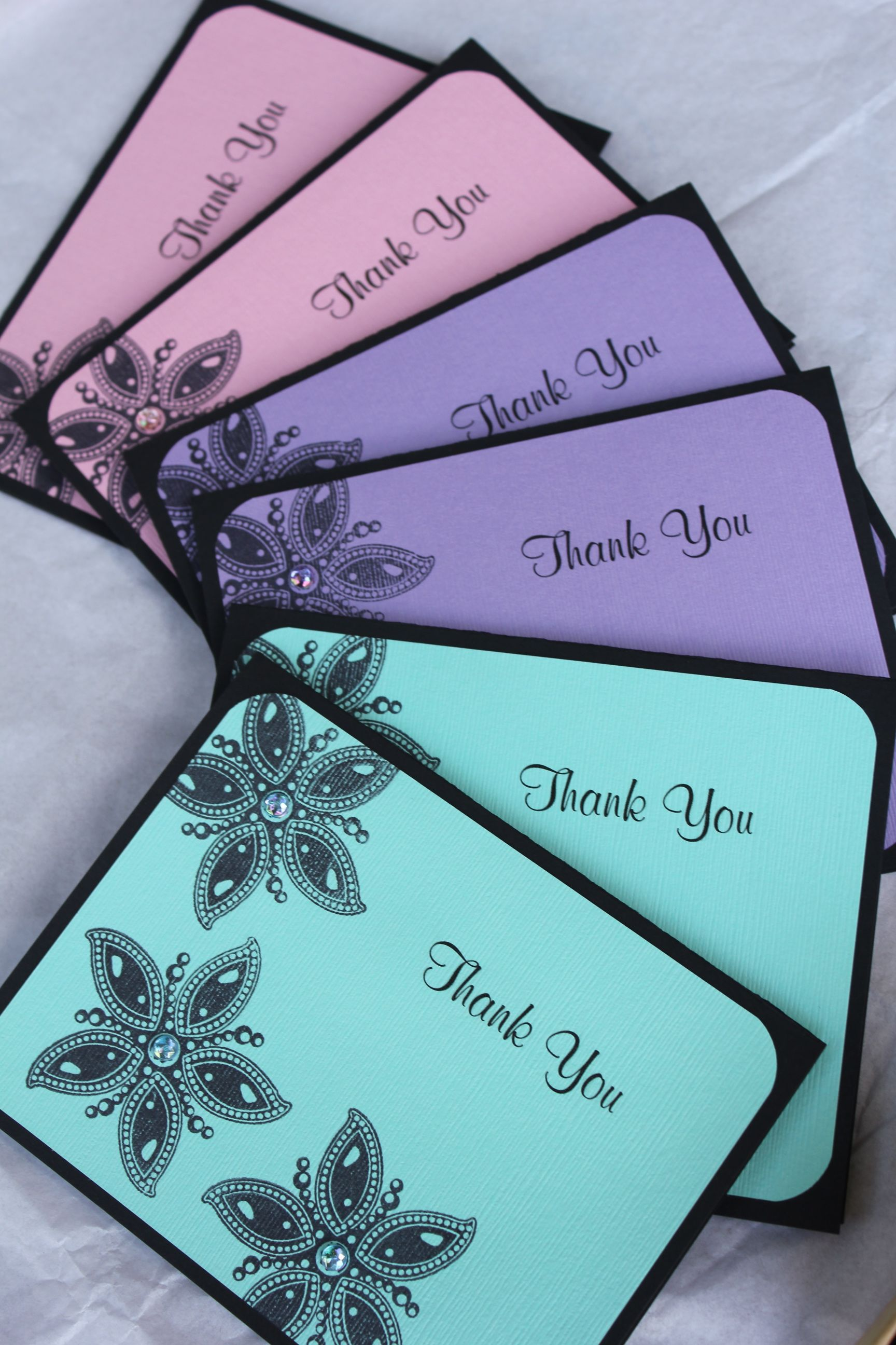 Handmade Thank You Cards By Craftedbylizc Cards