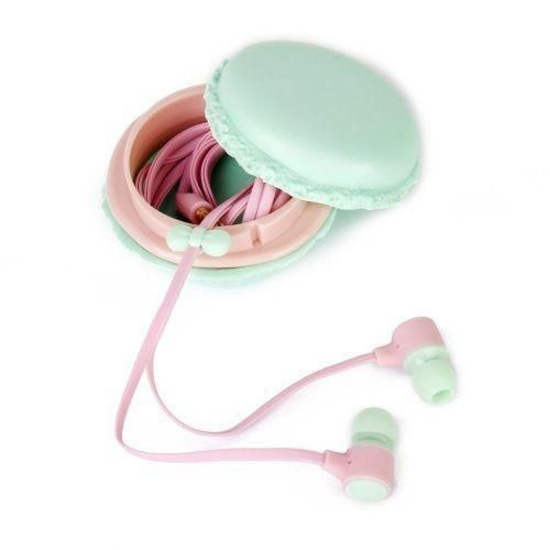 Macaron Earphones With Case I Want Great Gifts