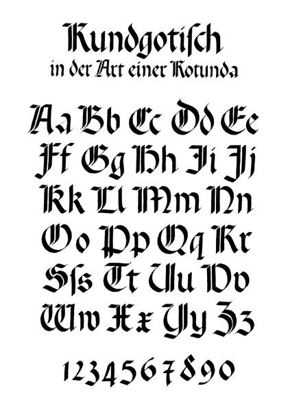 Schrift Einfuehrung Htm Tipologia De Letras Estilos De Letras Disenos De Letras