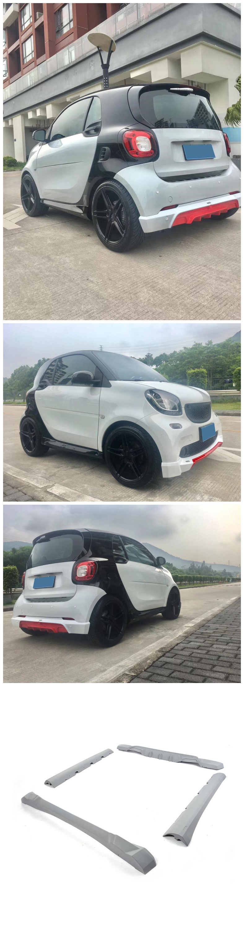 Factory PU Car Body Kits for benz Smart Fortwo Coupe 2016 2017 More