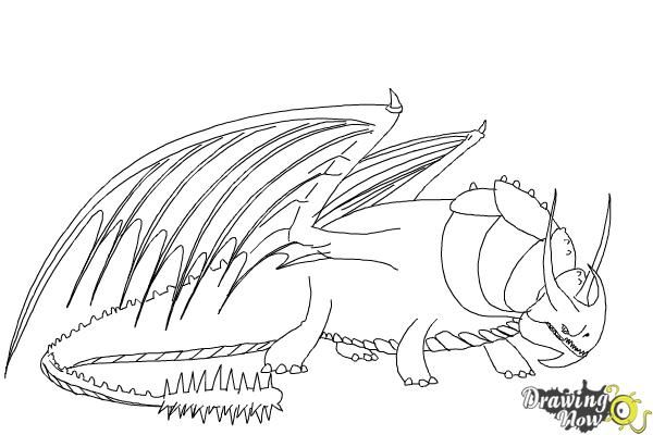How to Draw Skullcrusher from How to Train Your Dragon 2