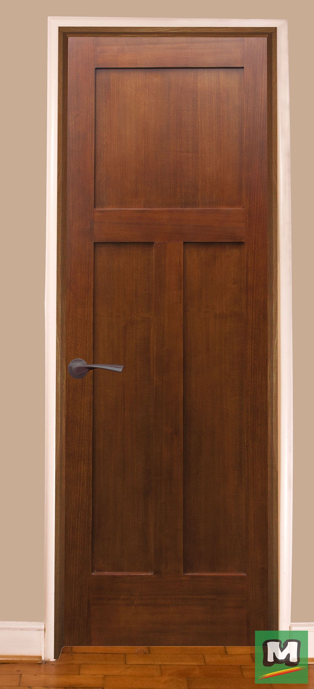 Add This Mastercraft 3 Panel Craftsman Door With Frame To Any Room