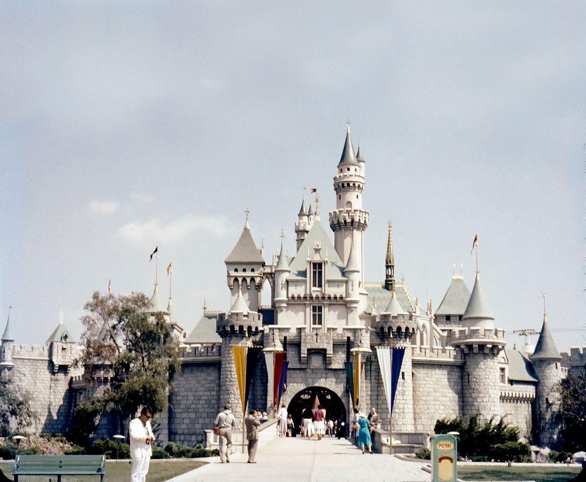 1950\'s sleeping beauty castle disneyland= my late father in law ...
