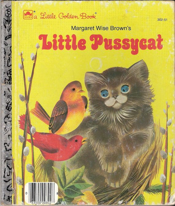 Little Pussycat Vintage Little Golden Book by Margaret Wise Brown Illustrated by Leonard Weisgard