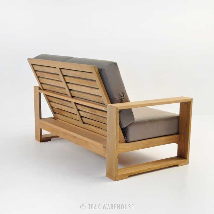 teak warehouse havana teak outdoor loveseat from wood to