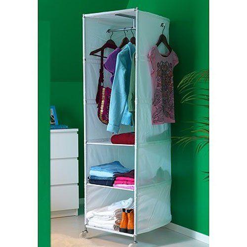 Ikea White Clothes Organizer Wardrobe Compact On Wheels Ikea Http
