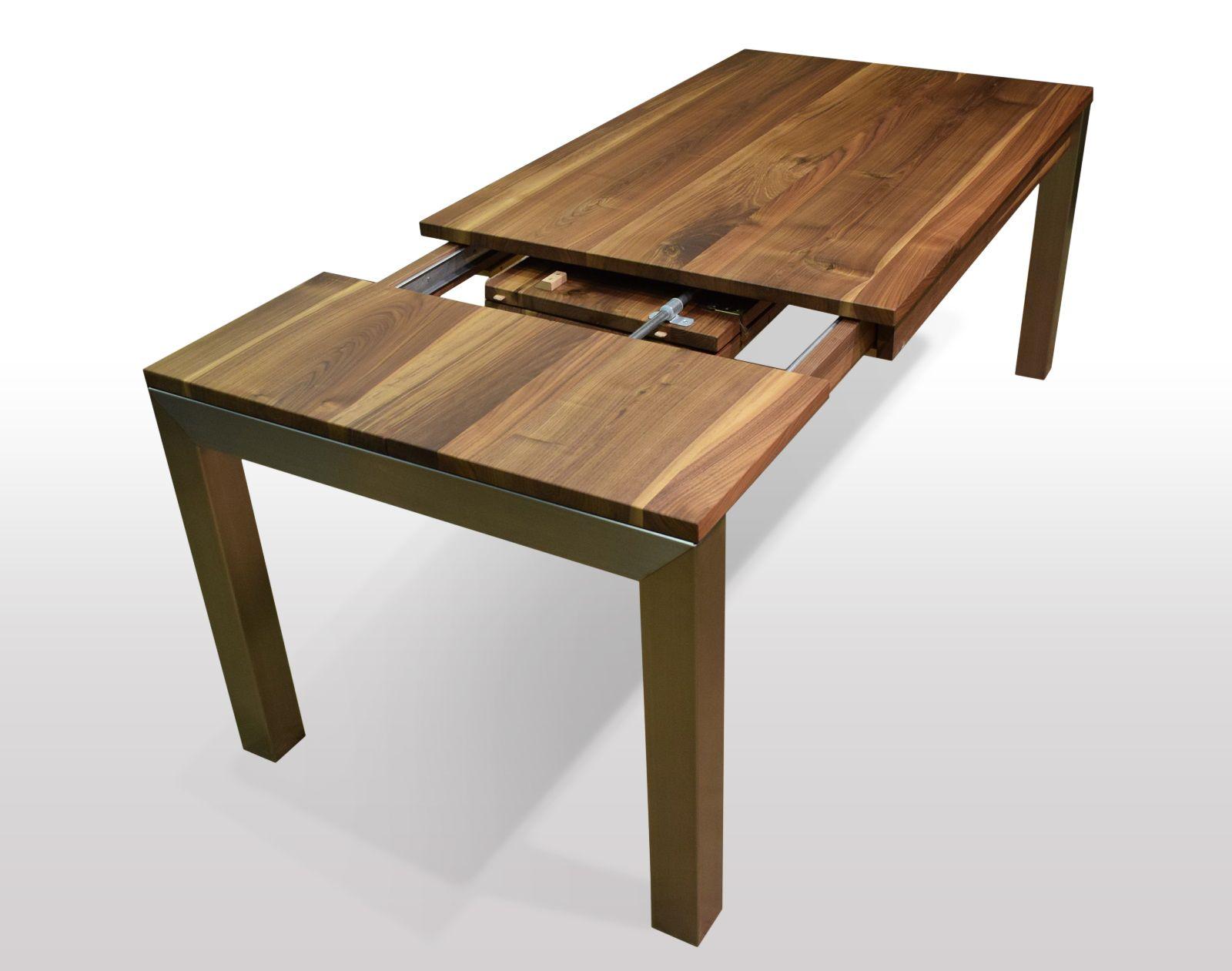 Tisch Nussbaum massiv Breite 80cm / Länge wählbar (mit