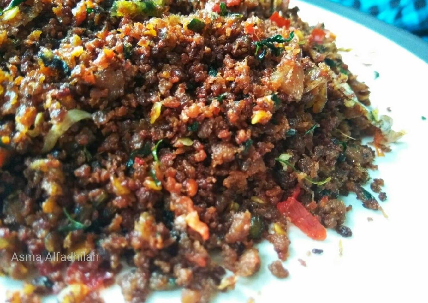Resep Abon Oncom Pedas Tutug Oncom Oleh Asma Alfadhilah Resep Memasak Makanan Resep