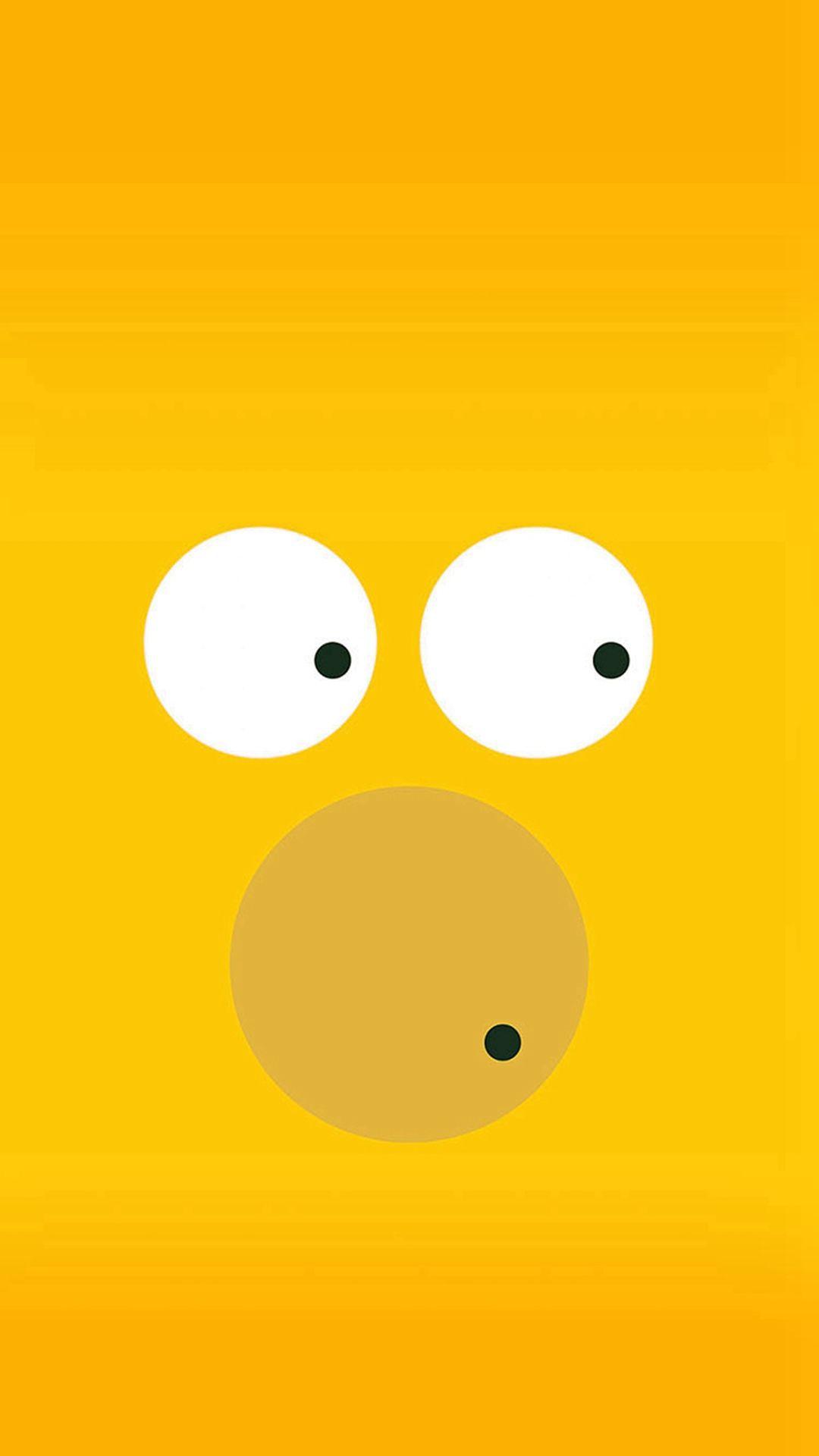 Funny Homer Simpson Minimal Illustration iPhone 6 wallpaper