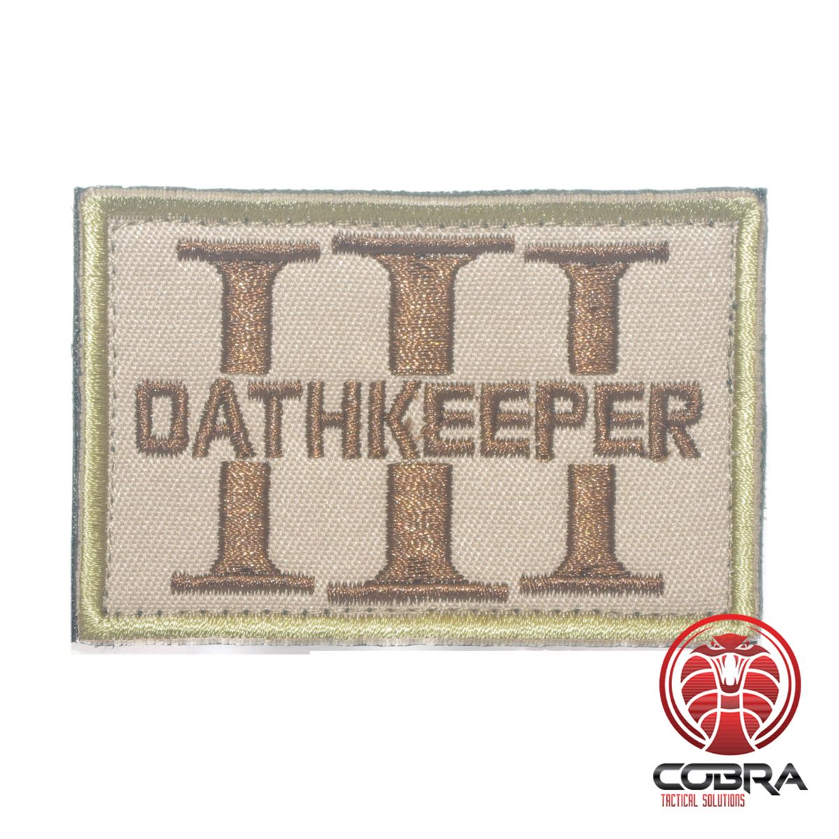 Three 3 Percenter OathKeeper sand embroidered Patch in