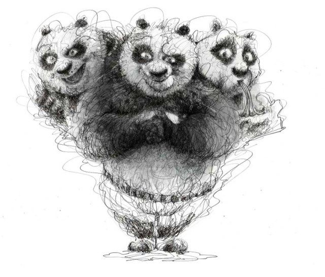marvelous pen stroke drawings by italian artist erick centeno oblitas cutpastestudio illustrations