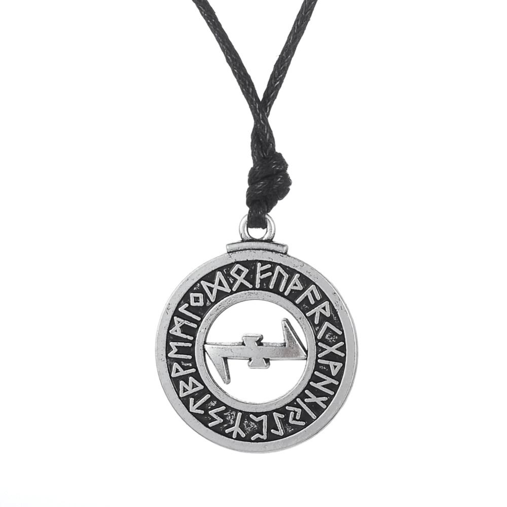 Find more chain necklaces information about wolfsangel elder wolfsangel elder futhark runes eihwaz and naudhiz combination turkish jewelry norse viking pendant necklace men wicca jewellery aloadofball Choice Image
