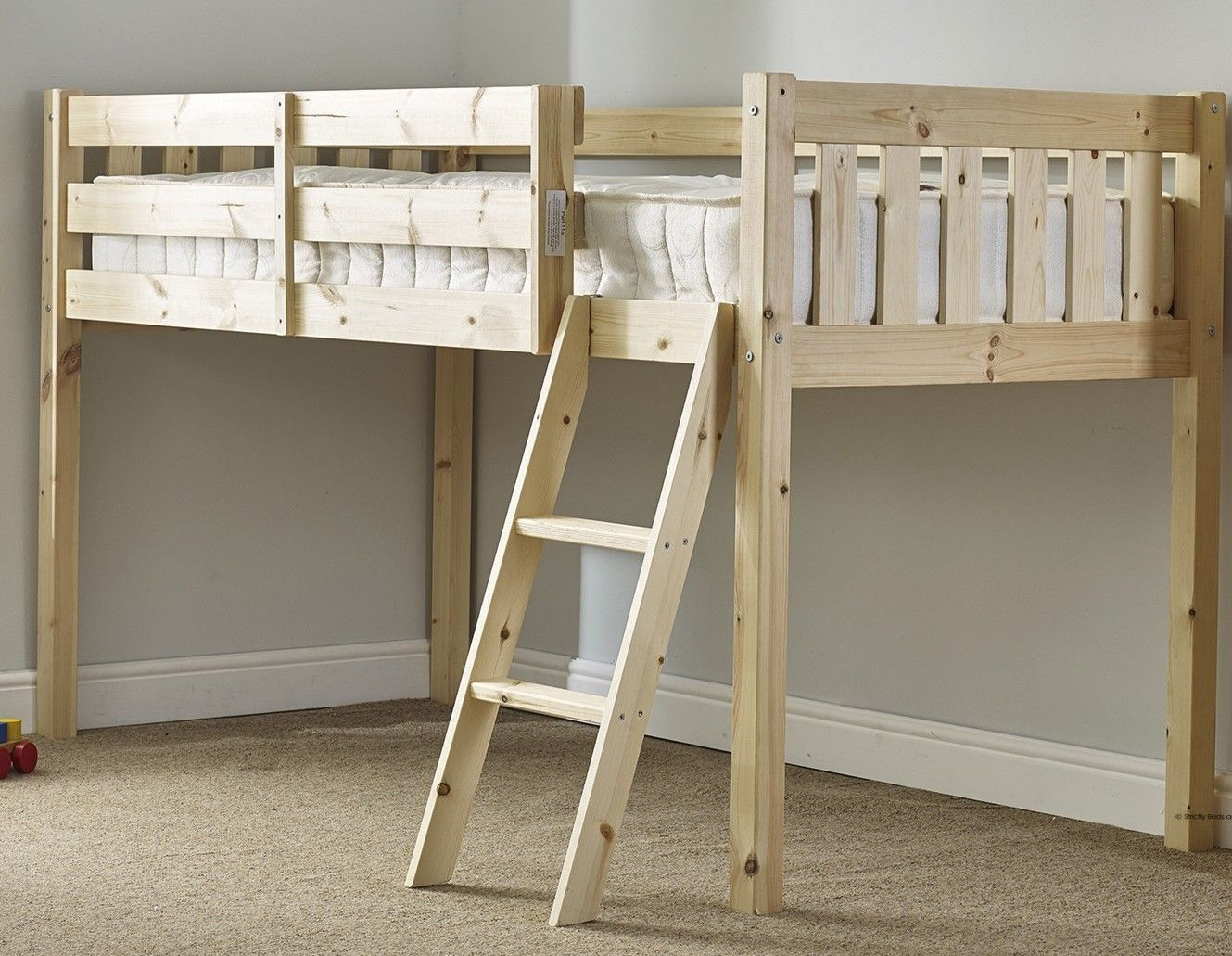 Small Box Room Cabin Bed For Grandma: Avalon 3ft Single Solid Pine Cabin Bed
