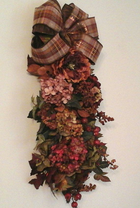 fall swag autumn thanksgiving wreath by giftsbywhatabeautifu