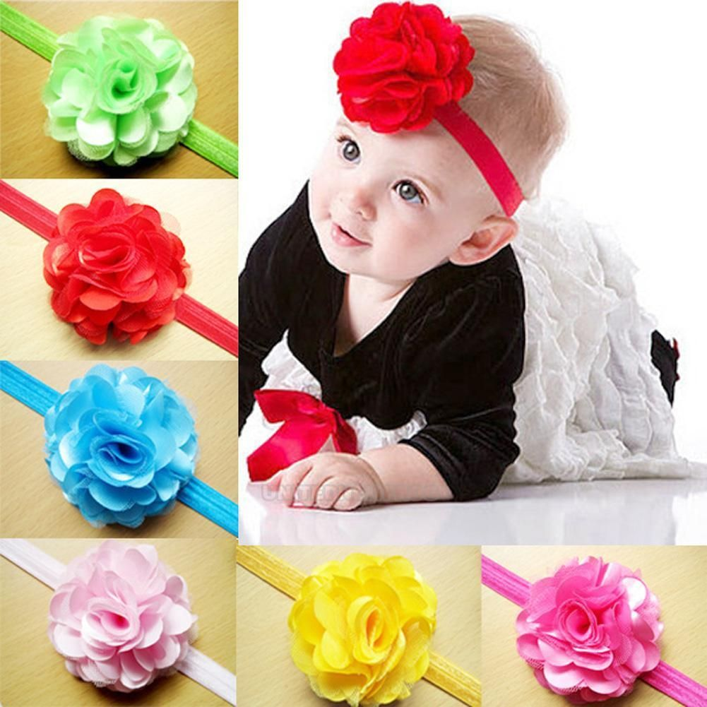 Baby Girl Toddler Infant Rose Flower Headband Hair Bow Band Hair Accessories New