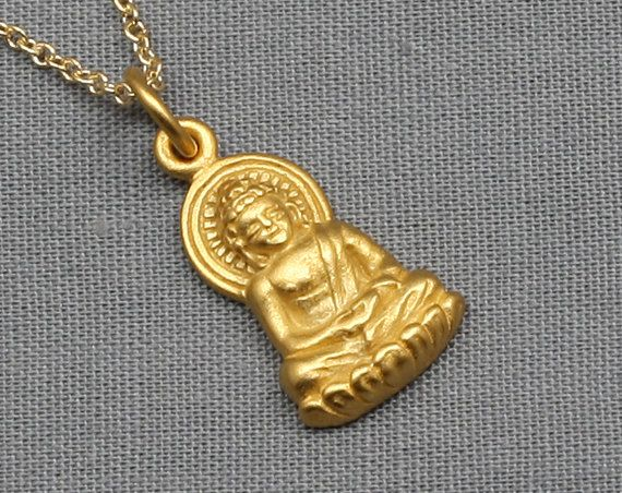 """NECKLACE 1 HOOK STAINLESS with GOLD Color 25/""""Length for Hang Amulet Buddha"""