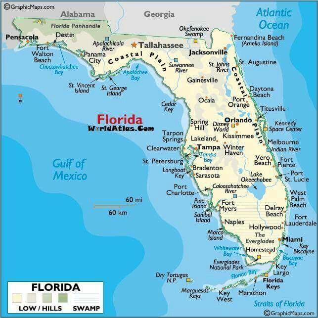 Map Florida Keys Printable
