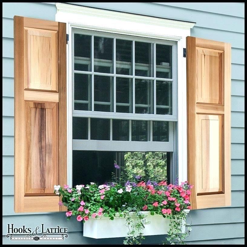 Faux Exterior Window Wood Faux Wood Exterior Shutters Buitenkant Huizen Huis Verbouwen House