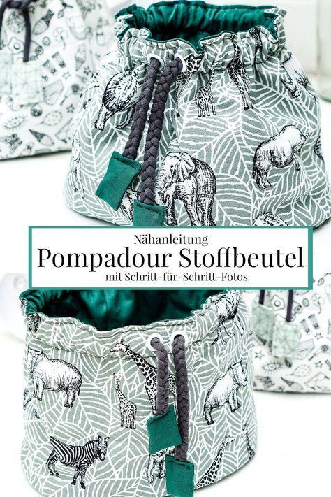 Nähanleitung: Pompadour Stoffbeutel - Schritt-für-Schritt-Fotos #beginnersewingprojects