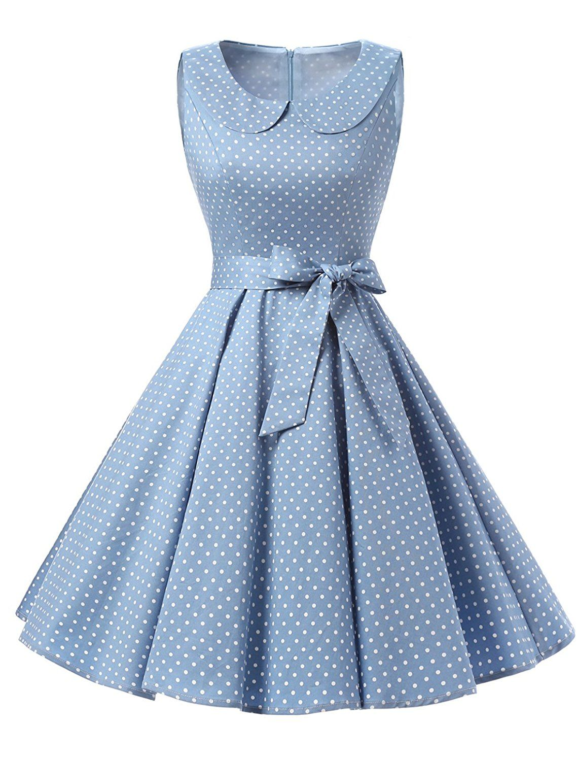 a20ebb62393 TideClothes Vintage 1950s Lapel Polka Dots Rockabilly Dress Party Cocktail  Dress   Remarkable product available now.   Dresses for Christmas