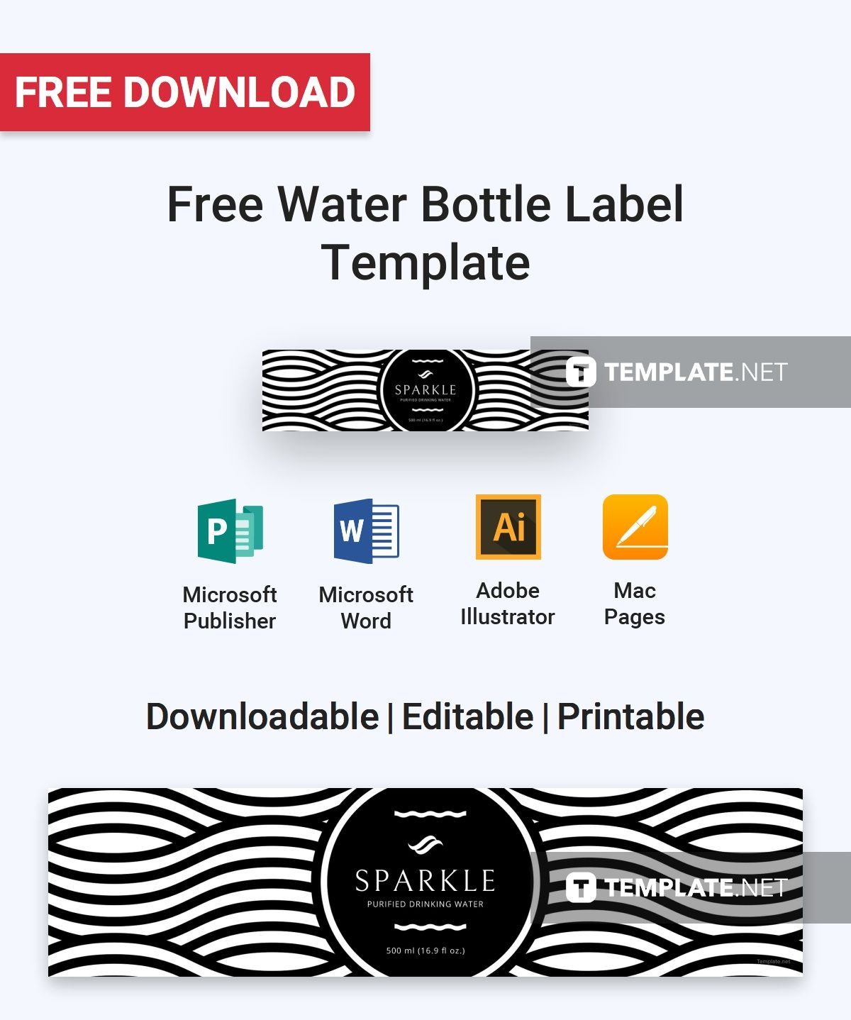 Free Download Label Templates Microsoft Word Free Water Bottle Label  Label Templates Water Bottle Labels And .
