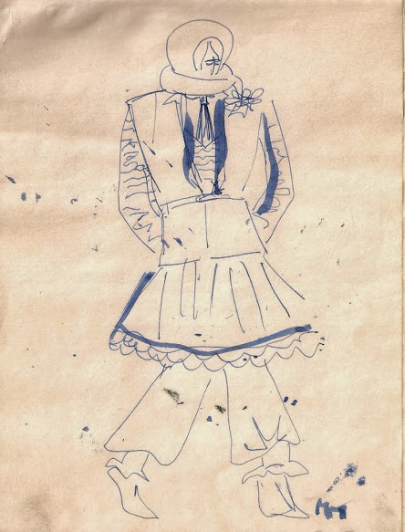 an original makany marta sketch from her secondary school years makanymarta fashion dress drawingsecondary